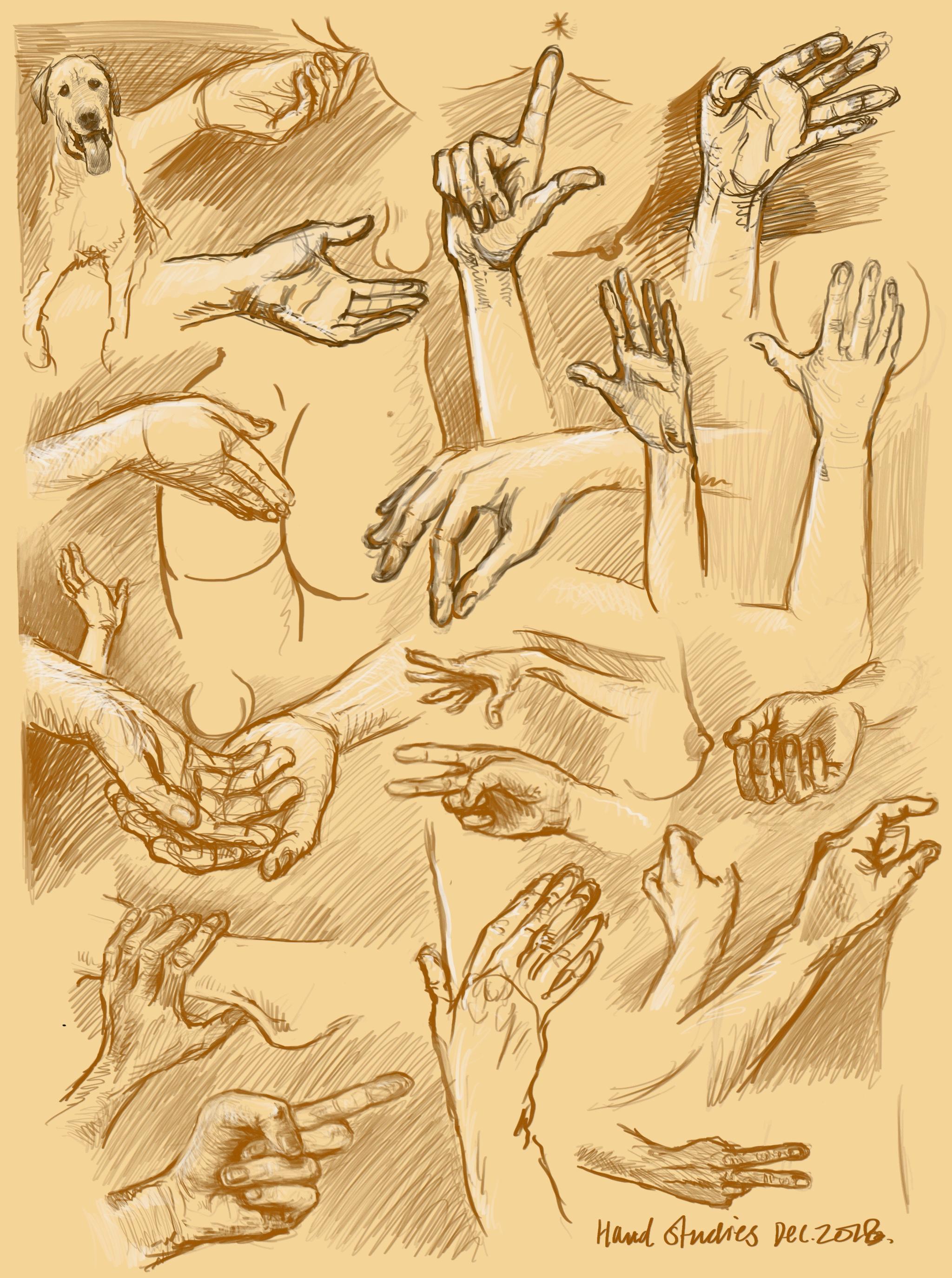 Hand figure studies dec 2018